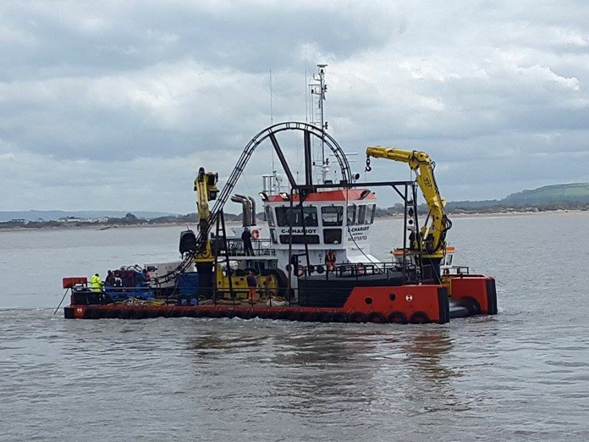 C-Chariot laying cables in Bristol Channel