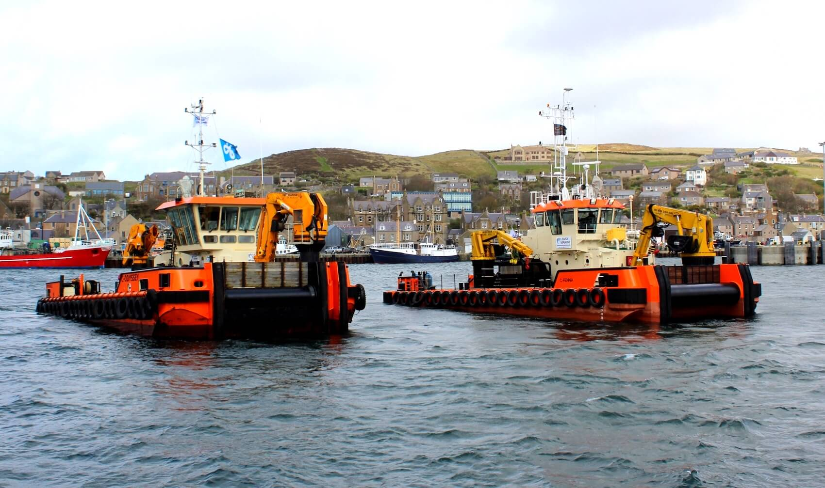 Providing vessel charter, commercial diving and