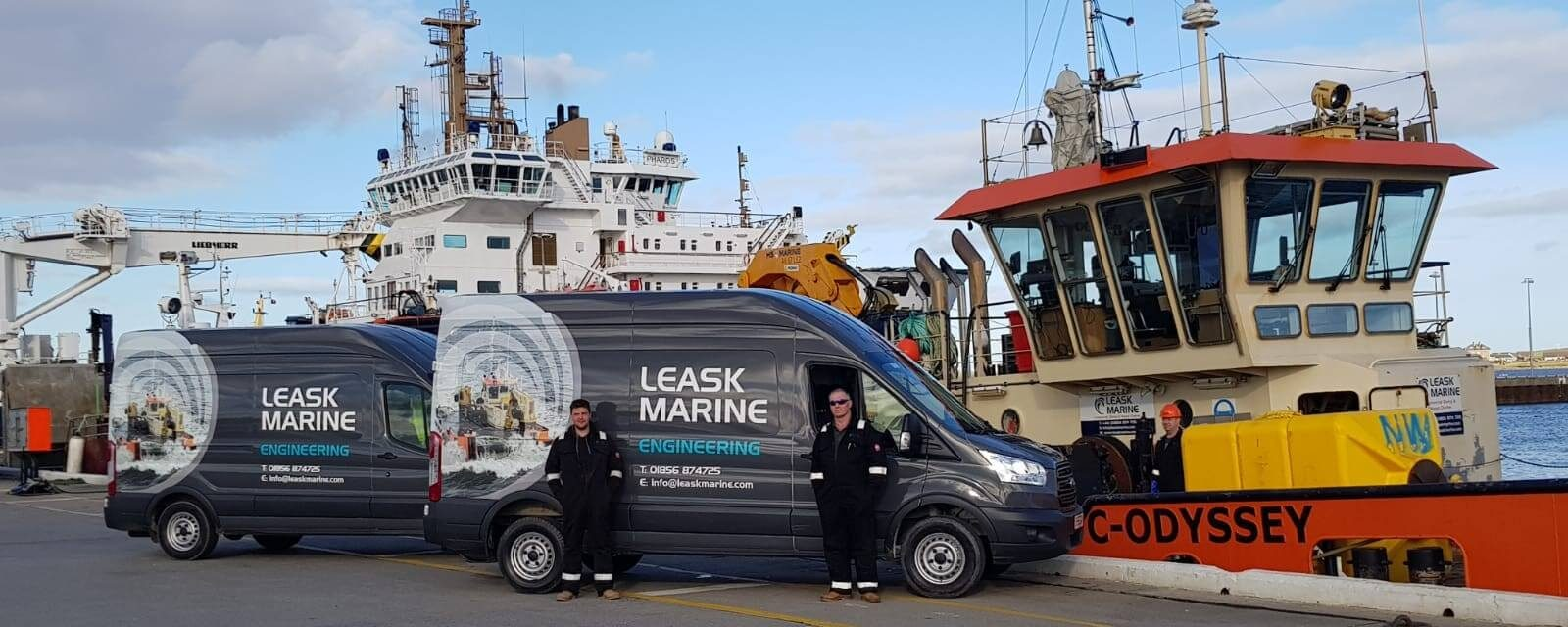 Leask Marine vans and C-Odyssey