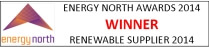 Energy North Awards – Winner – Renewable Supplier 2014