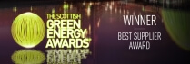 The Scottish Green Energy Awards – Winner – Best Supplier Award 2015