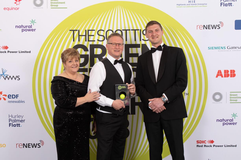 Leask Marine team with Green Energy Award 2018