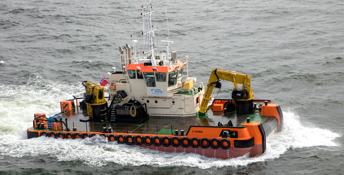 Leask Marine's C-Fenna completes projects in North east England.
