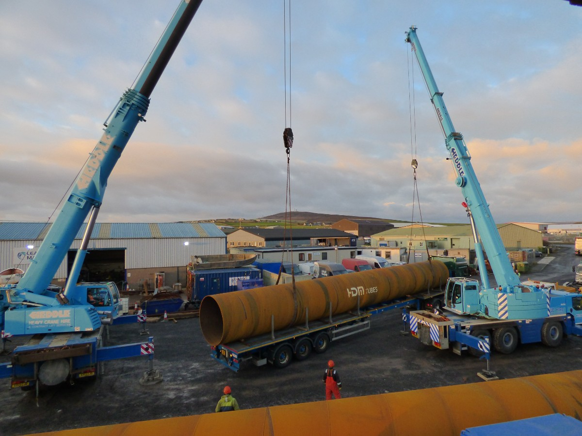 Leask Marine start the first tidal platform build in Orkney