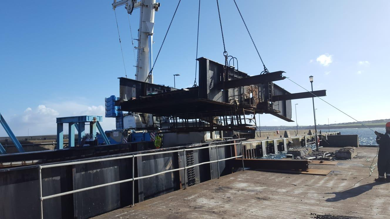 Leask Marine successfully complete decommissioning of Ola Pier linkspan