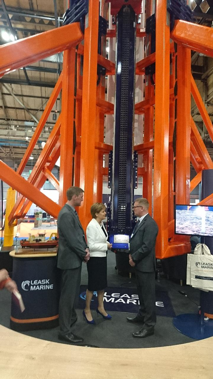 Leask Marine's Submersible Drilling Rig launch at All Energy