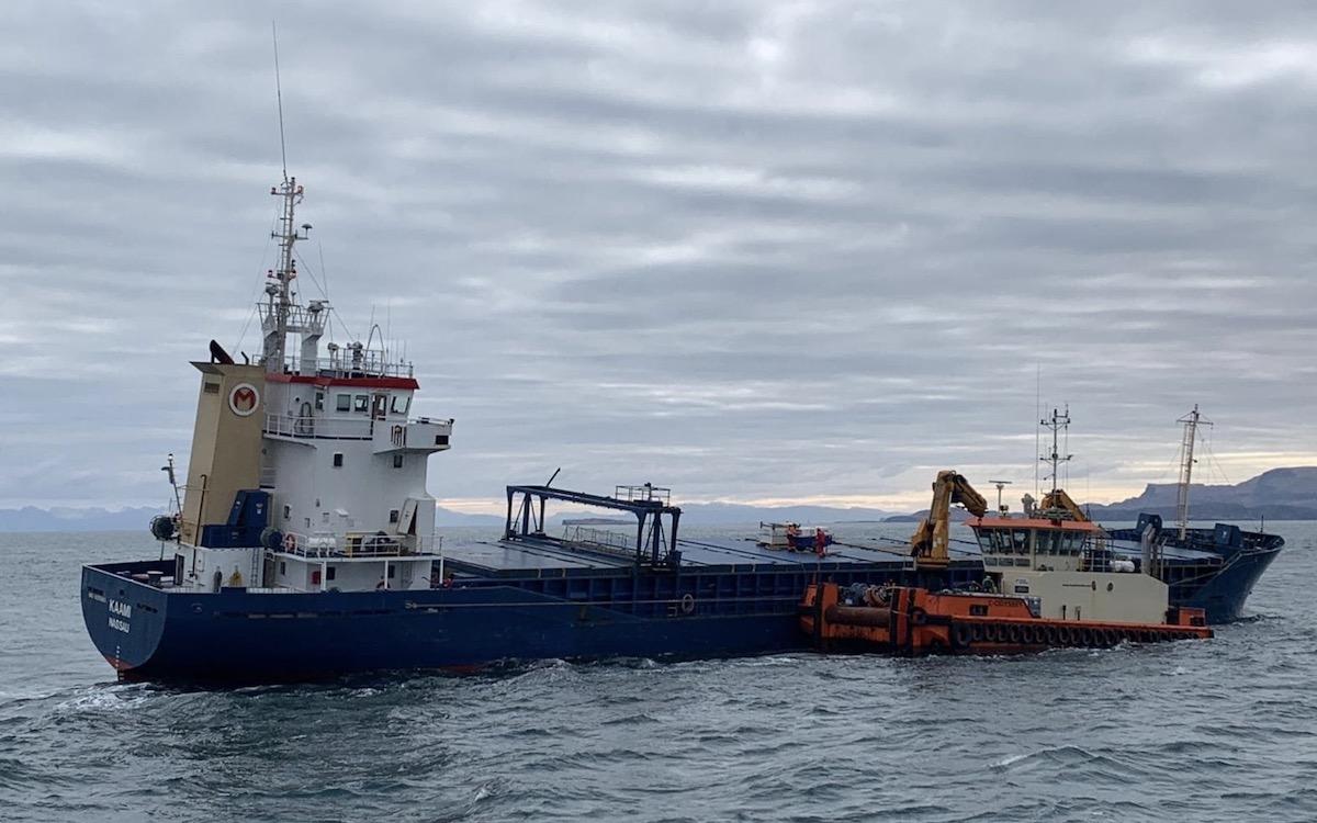 Leask Marine emergency response for stricken vessel in the Minch.