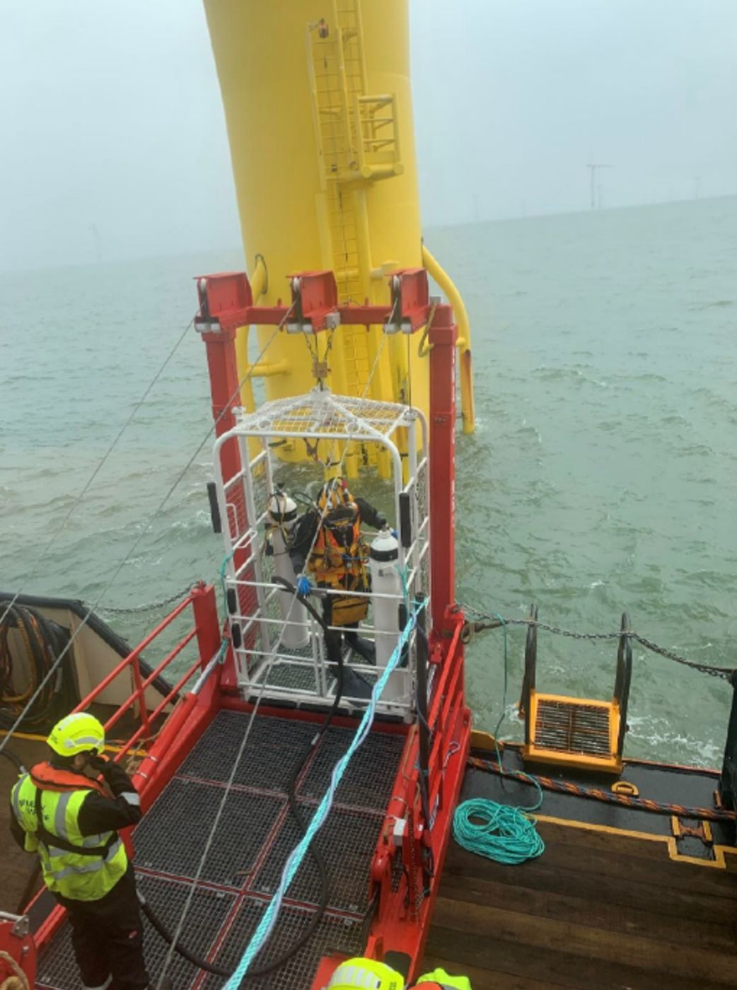 Leask Marine complete infrastructure project in London Array Offshore Wind Farm.